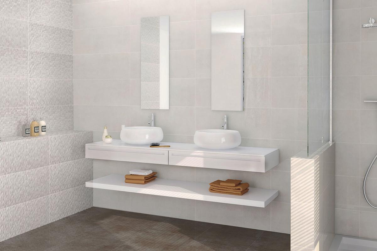 Baño en blanco con doble seno