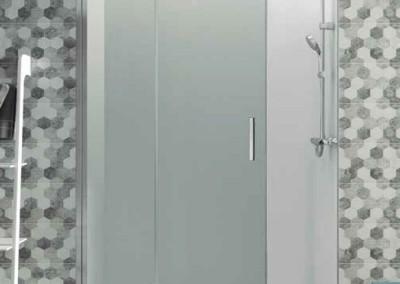 Mampara de un fijo y una puerta plegable