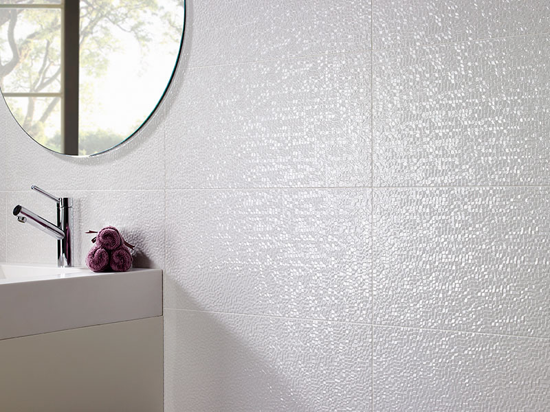 Mosaico blanco brillo
