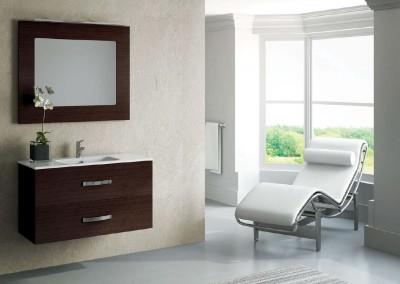 Mueble suspendido en color wengué