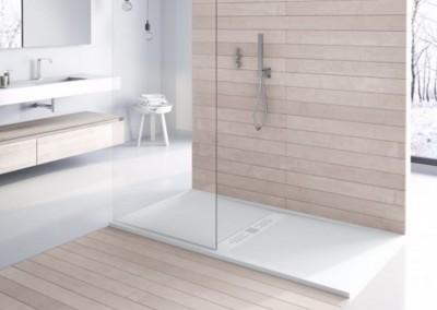 PLato de ducha con rejilla central